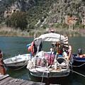 A Turkish Fishing Boat On The Dalyan River by Tracey Harrington-Simpson