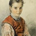 A Ukrainian Peasant Girl by Vladimir Egorovich Makovsky