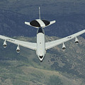 A U.s. Air Force E-3 Sentry Airborne by Stocktrek Images