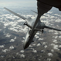 A U.s. Air Force Kc-10 Refuels A B-1b by Stocktrek Images