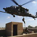 A U.s. Air Force Pararescuemen Fast by Stocktrek Images