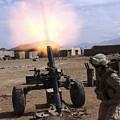A U.s. Marine Corps Gunner Fires by Stocktrek Images
