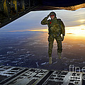 A U.s. Soldier Salutes His Fellow by Stocktrek Images
