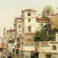 A Venetian Canal by Henry Pember Smith
