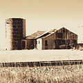 A Very Old Barn And Silo by Curtis Tilleraas
