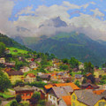 A View Of Engelberg Switzerland by Paul Gioacchini