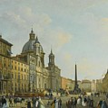 A View Of Piazza Navona With Elegantly by MotionAge Designs