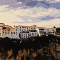 A View Of Ronda, Andalusia by Andrea Mazzocchetti