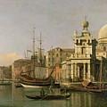 A view of the Dogana and Santa Maria della Salute by Antonio Canaletto