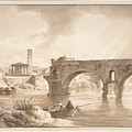 A View Of The Tiber From The North Bank by Celestial Images