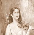 A Violin Girl by Taya Winitsky