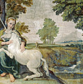 A Virgin With A Unicorn by Domenichino