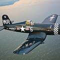 A Vought F4u-5 Corsair In Flight by Scott Germain