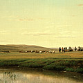 A Wagon Train On The Plains by Thomas Worthington Whittredge