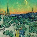 A Walk At Twilight by Vincent van Gogh