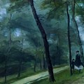 A Walk In The Woods Madame Lecoeur And Her Children 1870 by Renoir PierreAuguste