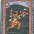 A Warrior Brandishing A Sword by Eastern Accents