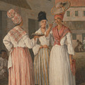 A West Indian Flower Girl And Two Other Free Women Of Color by Agostino Brunias