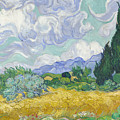 A Wheat Field, With Cypresses by Vincent van Gogh