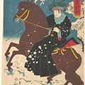 A Woman On Horseback In The Snow by Eastern Accents