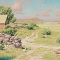 A Young Girl In Summer Landscape by MotionAge Designs
