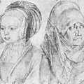 A Young Girl Of Cologne And Dbcrer Wife 1520 by Durer Albrecht