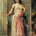 A Young Oriental Girl With A Perfume Burner by Henri Adrien Tanoux