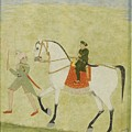 A Young Prince On Horseback by Bijai Singh