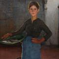 A Zandvoort Fishergirl by Elizabeth Adela Stanhope Forbes