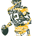Aaron Rodgers Green Bay Packers Pixel Art 15 by Joe Hamilton