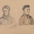 Aase Rasmusdatter Stranden And Anna Troelsdatter Kittelsviken by Adolph Tidemand
