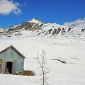 Abandon Building Alaskan Mountains by David Arment