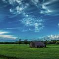 Abandoned Barn In Soybean Field by Roger Monahan