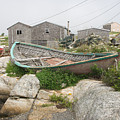 Abandoned Boat Ashore by Steve Somerville
