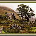 Abandoned Cottage - Scotland H A With Decorative Ornate Printed Frame by Gert J Rheeders