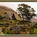 Abandoned Cottage - Scotland H B With Decorative Ornate Printed Frame by Gert J Rheeders