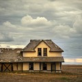 Abandoned Depot On The Canadian Plains by Harriet Feagin
