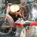 Abandoned Motorbike  by Heather Lennox