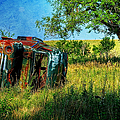Abandoned Old Car In Prairie by Anna Louise