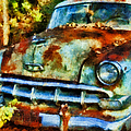 Abandoned Old Car In Woods by Anna Louise