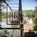 Abandoned Rail Road Trestle Bridge In Color by Kelly Hazel
