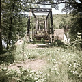 Abandoned Railroad Trestle Bridge In Vintage Oil Colorization by Kelly Hazel
