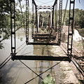 Abandoned Railroad Trestle Bridge Study In Perspective by Kelly Hazel