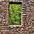 Abandoned Stone Wall With Window by Larry Jost