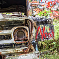 Abandoned Truck With Spray Paint by Edward Fielding