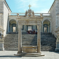 Abbey Of Montecassino Courtyard by Sally Weigand