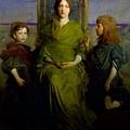 Abbott Handerson Thayer - Mother And Children by Abbott Handerson Thayer