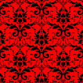 Abby Damask In Black Pattern 02-p0113 by Custom Home Fashions