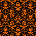Abby Damask With A Black Background 03-p0113 by Custom Home Fashions