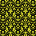 Abby Damask With A Black Background 05-p0113 by Custom Home Fashions